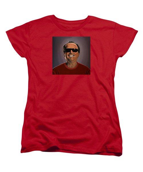 Jack Nicholson 2 Women's T-Shirt (Standard Cut) by Paul Meijering