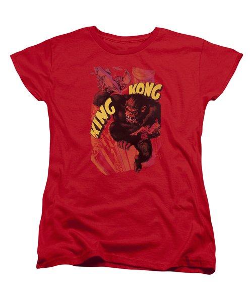King Kong - Plane Grab Women's T-Shirt (Standard Cut) by Brand A