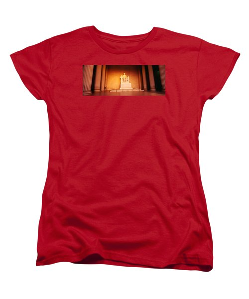 Low Angle View Of A Statue Of Abraham Women's T-Shirt (Standard Cut) by Panoramic Images