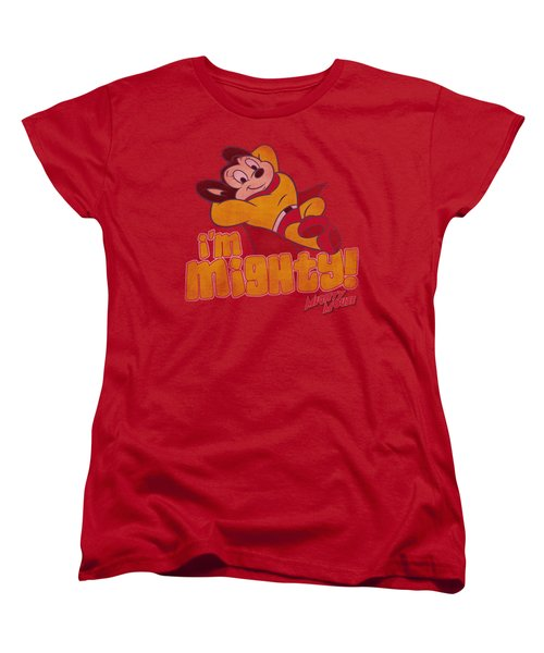 Mighty Mouse - I'm Mighty Women's T-Shirt (Standard Cut) by Brand A