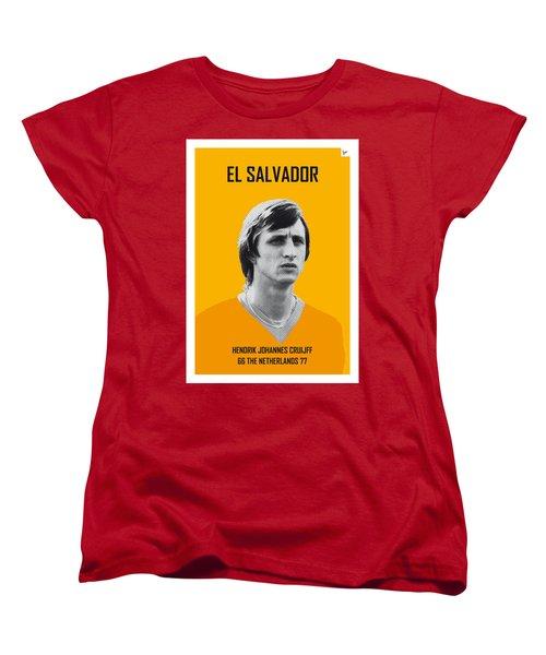 My Cruijff Soccer Legend Poster Women's T-Shirt (Standard Cut) by Chungkong Art