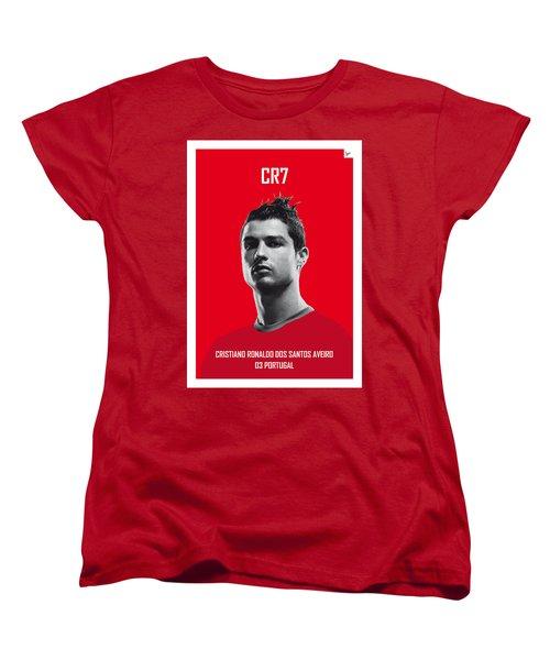 My Ronaldo Soccer Legend Poster Women's T-Shirt (Standard Cut) by Chungkong Art