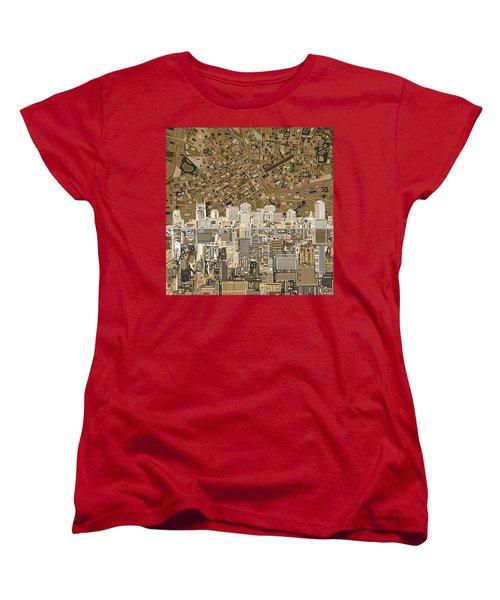 Nashville Skyline Abstract 2 Women's T-Shirt (Standard Cut) by Bekim Art