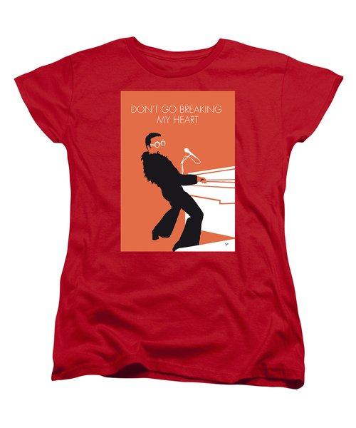 No053 My Elton John Minimal Music Poster Women's T-Shirt (Standard Cut) by Chungkong Art