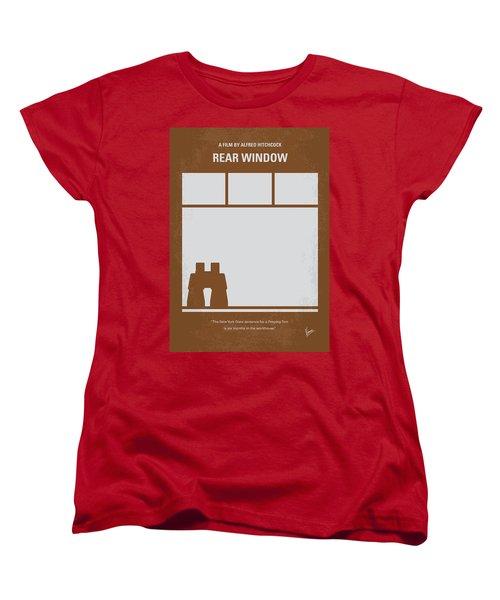 No238 My Rear Window Minimal Movie Poster Women's T-Shirt (Standard Cut) by Chungkong Art