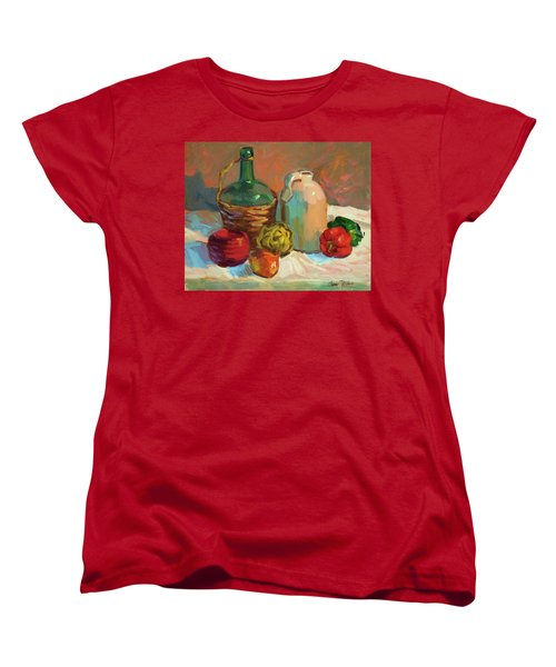 Pottery And Vegetables Women's T-Shirt (Standard Cut) by Diane McClary
