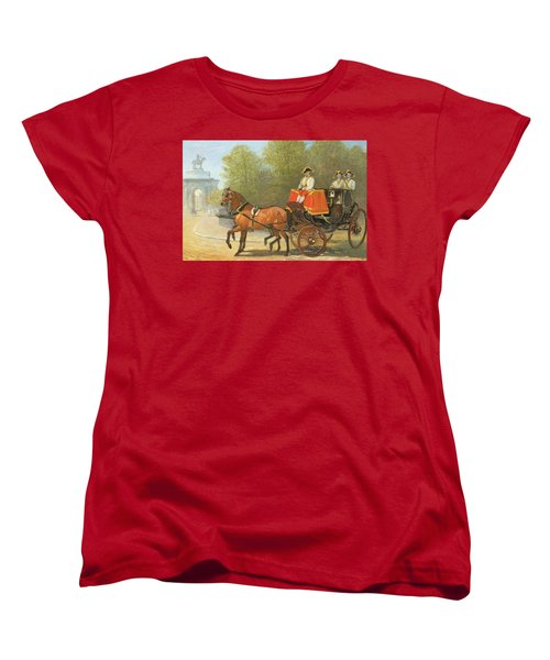 Returning From Her Majestys Drawing Room Women's T-Shirt (Standard Cut) by Alfred Corbould