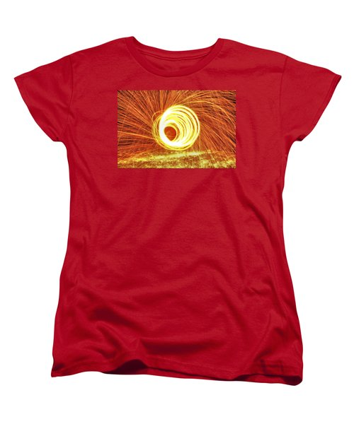 Shooting Sparks Women's T-Shirt (Standard Cut) by Dan Sproul