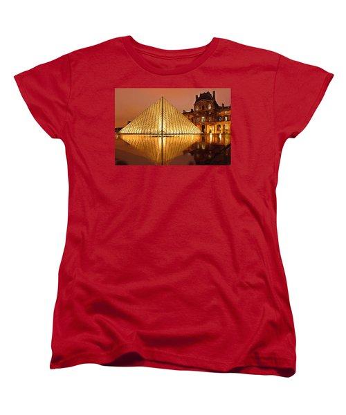 The Louvre By Night Women's T-Shirt (Standard Cut) by Ayse Deniz