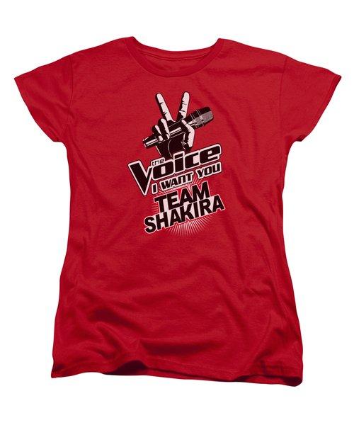 The Voice - Team Shakira Women's T-Shirt (Standard Cut) by Brand A