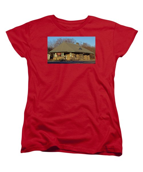 Train Stations And Libraries Women's T-Shirt (Standard Cut) by Skip Willits