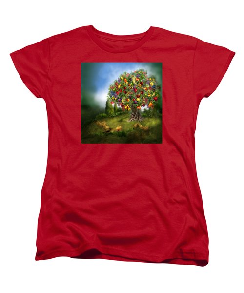Tree Of Abundance Women's T-Shirt (Standard Cut) by Carol Cavalaris