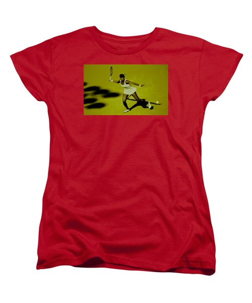Venus Williams In Action Women's T-Shirt (Standard Cut) by Brian Reaves