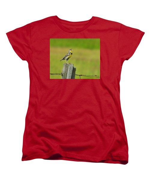 Western Meadowlark Women's T-Shirt (Standard Cut) by Tony Beck