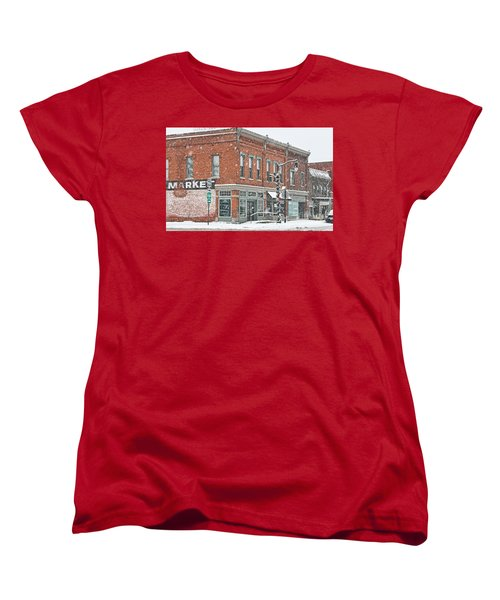Whitehouse Ohio In Snow 7032 Women's T-Shirt (Standard Cut) by Jack Schultz