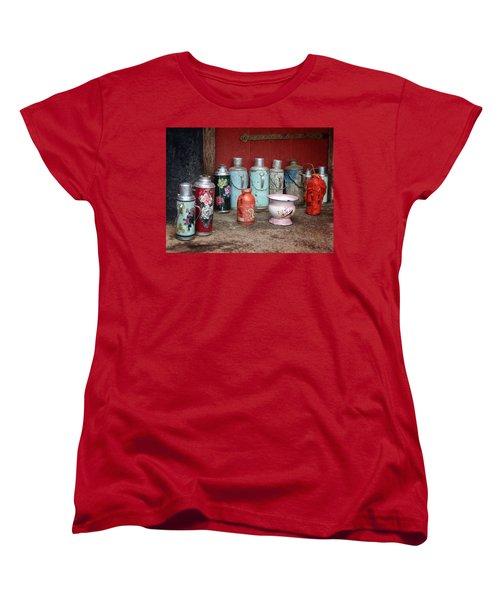 Yak Butter Thermoses Women's T-Shirt (Standard Cut) by Joan Carroll