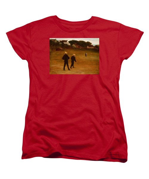 The Ball Players Women's T-Shirt (Standard Cut) by William Morris Hunt