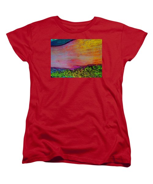 Women's T-Shirt (Standard Cut) featuring the digital art Walk Into The Future by Richard Laeton