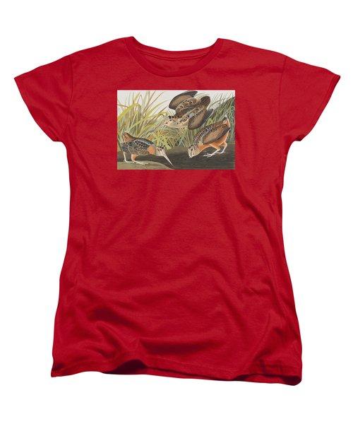 American Woodcock Women's T-Shirt (Standard Cut) by John James Audubon