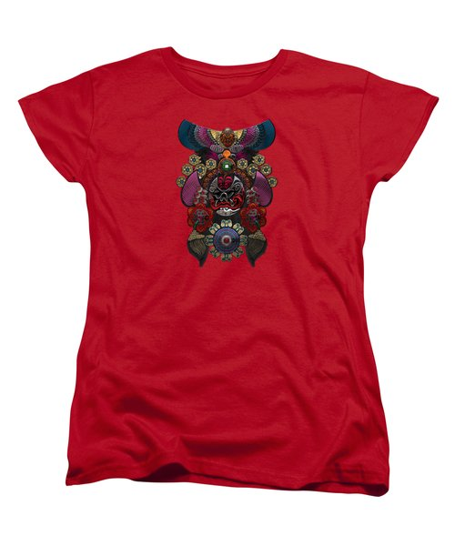 Chinese Masks - Large Masks Series - The Demon Women's T-Shirt (Standard Cut) by Serge Averbukh