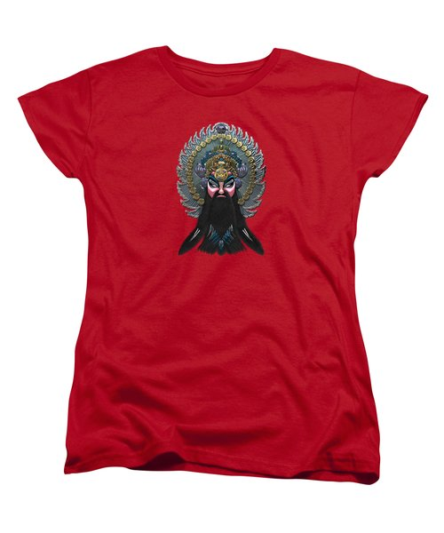 Chinese Masks - Large Masks Series - The Emperor Women's T-Shirt (Standard Cut) by Serge Averbukh