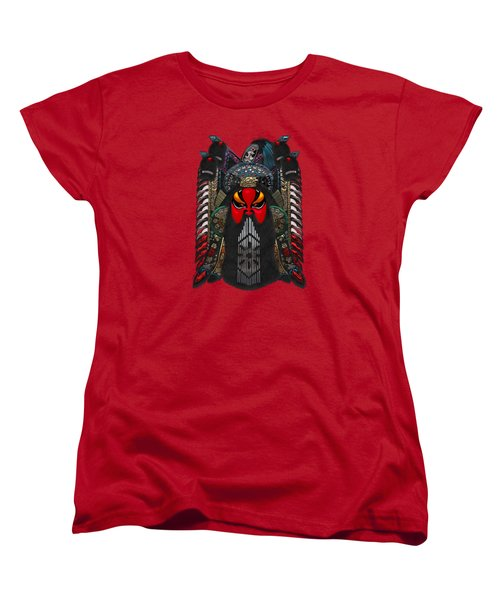 Chinese Masks - Large Masks Series - The Red Face Women's T-Shirt (Standard Cut) by Serge Averbukh