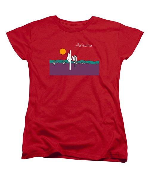 Desert Sunset Women's T-Shirt (Standard Cut) by Methune Hively