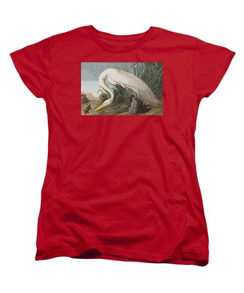 Great Egret Women's T-Shirt (Standard Cut) by John James Audubon