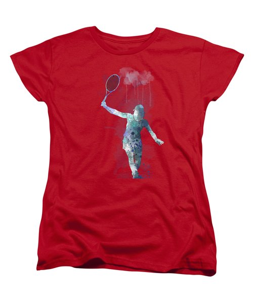 Tennis Player Women's T-Shirt (Standard Cut) by Marlene Watson