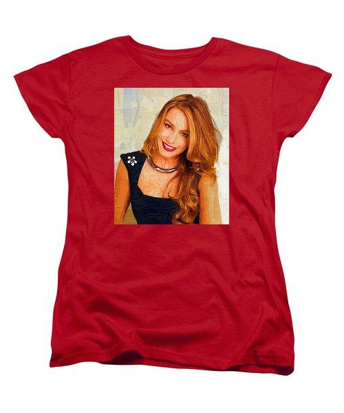 Actress Sofia Vergara  Women's T-Shirt (Standard Cut) by Best Actors