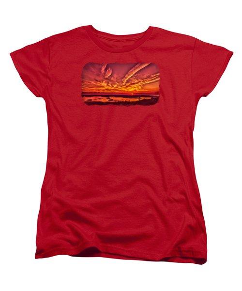 A New Maine Day Women's T-Shirt (Standard Cut) by John M Bailey