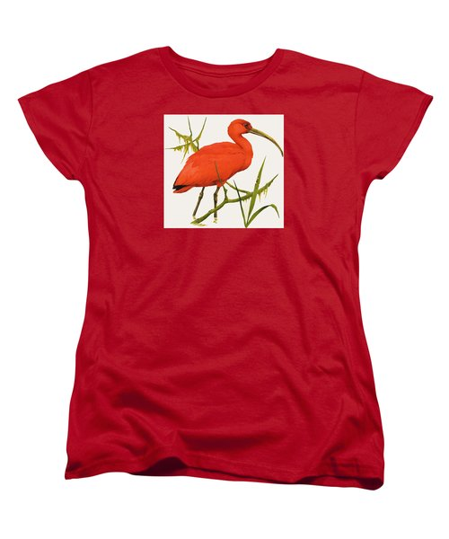 A Scarlet Ibis From South America Women's T-Shirt (Standard Cut) by Kenneth Lilly