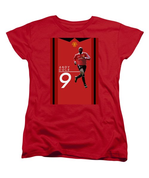 Andy Cole Women's T-Shirt (Standard Cut) by Semih Yurdabak