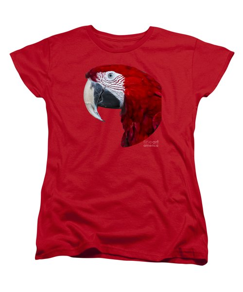 Red Macaw Women's T-Shirt (Standard Cut) by Mark Myhaver
