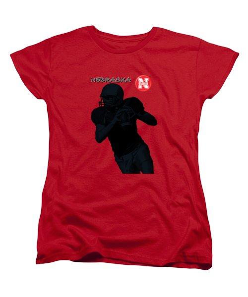 Nebraska Football Women's T-Shirt (Standard Cut) by David Dehner