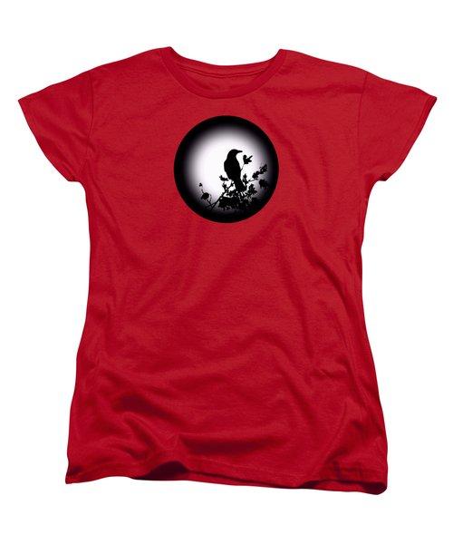 Blackbird In Silhouette  Women's T-Shirt (Standard Cut) by David Dehner
