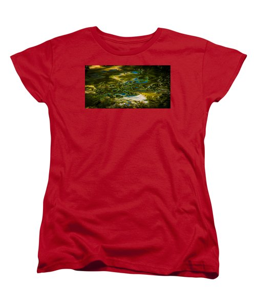 Bubbles And Reflections Women's T-Shirt (Standard Cut) by Marvin Spates