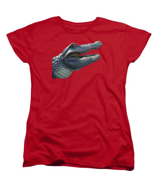Bull Gator Portrait Transparent For T Shirts Women's T-Shirt (Standard Cut) by D Hackett