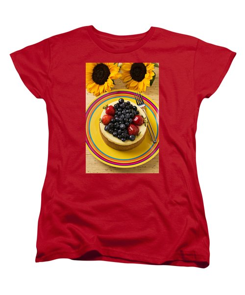 Cheesecake With Fruit Women's T-Shirt (Standard Cut) by Garry Gay