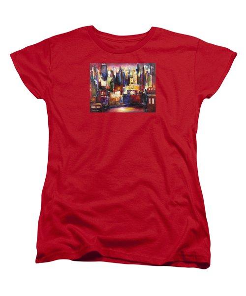 Chicago City View Women's T-Shirt (Standard Cut) by Kathleen Patrick