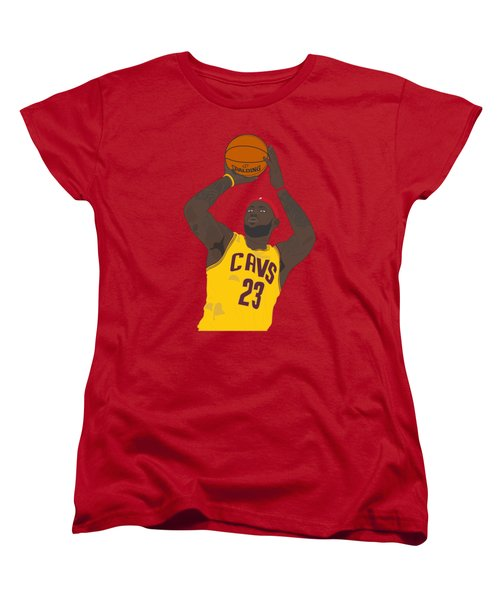 Cleveland Cavaliers - Lebron James - 2014 Women's T-Shirt (Standard Cut) by Troy Arthur Graphics