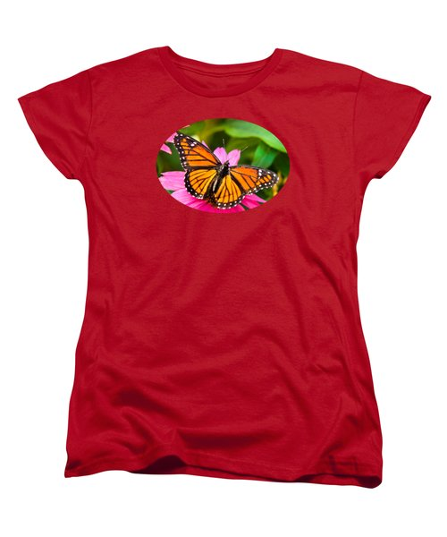 Colorful Butterflies - Orange Viceroy Butterfly Women's T-Shirt (Standard Cut) by Christina Rollo