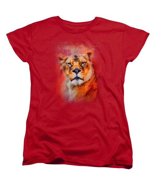 Colorful Expressions Lioness Women's T-Shirt (Standard Cut) by Jai Johnson
