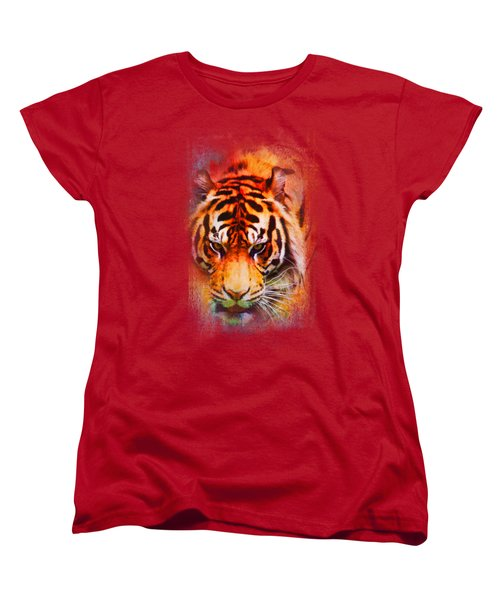 Colorful Expressions Tiger Women's T-Shirt (Standard Cut) by Jai Johnson