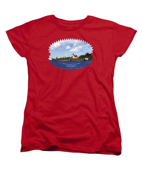 Copper Harbor Lighthouse Women's T-Shirt (Standard Cut) by Christina Rollo