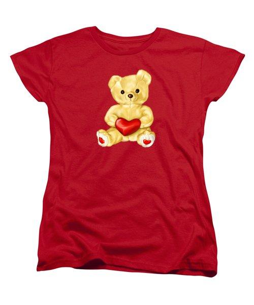 Cute Teddy Bear Hypnotist Women's T-Shirt (Standard Cut) by Boriana Giormova
