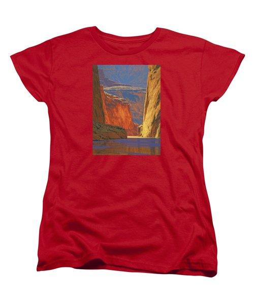 Deep In The Canyon Women's T-Shirt (Standard Cut) by Cody DeLong