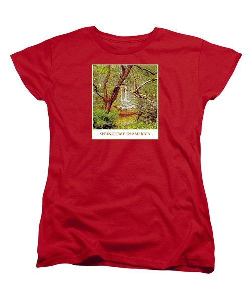Women's T-Shirt (Standard Cut) featuring the photograph Dogwood Tree In Spring by A Gurmankin