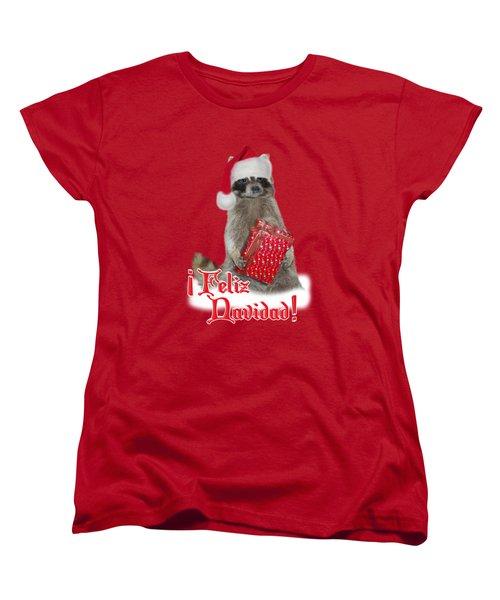 Feliz Navidad - Raccoon Women's T-Shirt (Standard Cut) by Gravityx9  Designs