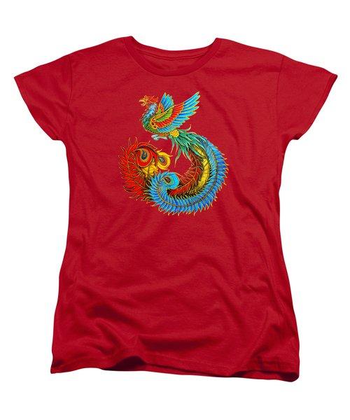 Fenghuang Chinese Phoenix Women's T-Shirt (Standard Cut) by Rebecca Wang